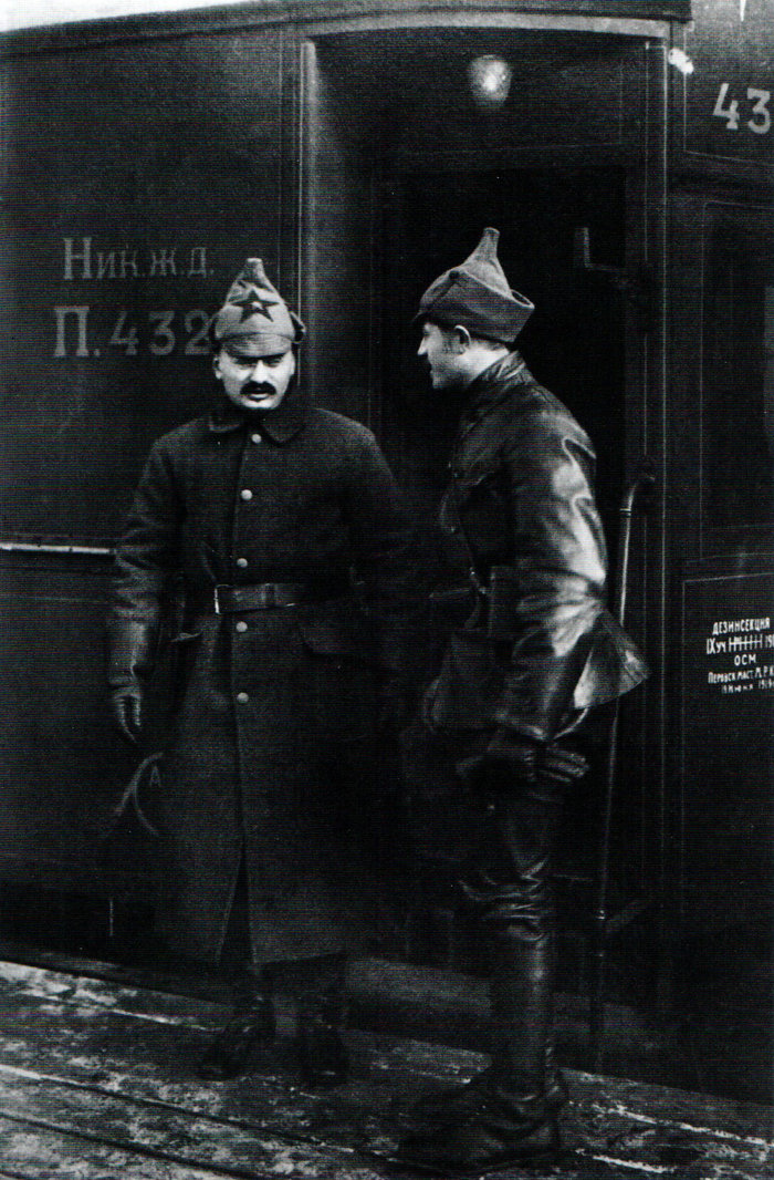 Ο Τρότσκι χρησιμοποιούσε το τραίνο ως βάση του στον Εμφύλιο Πόλεμο