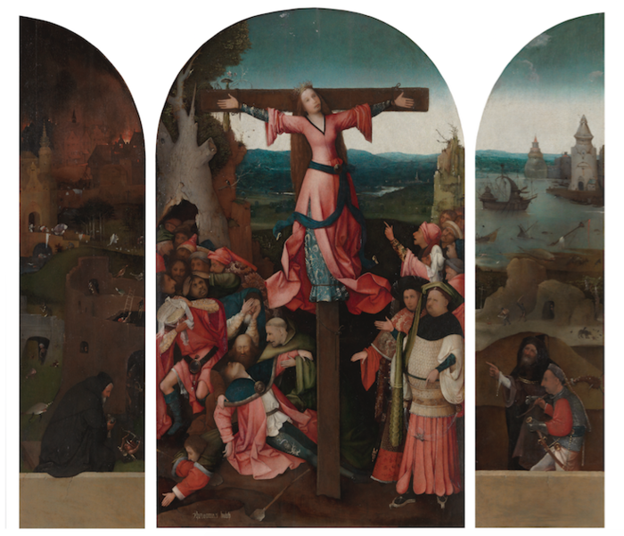 Saint Wilgefortis Triptych,Venice, Gallerie dell'Accademia