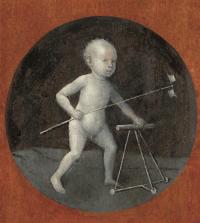 Christ Child with a Walking Frame, η πίσω όψη του έργου Christ Carrying the Cross, Βιέννη, Κunsthistorisches Museum