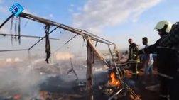 Δεκάδες πρόσφυγες νεκροί μετά από βομβαρδισμό καταυλισμού στη Συρία
