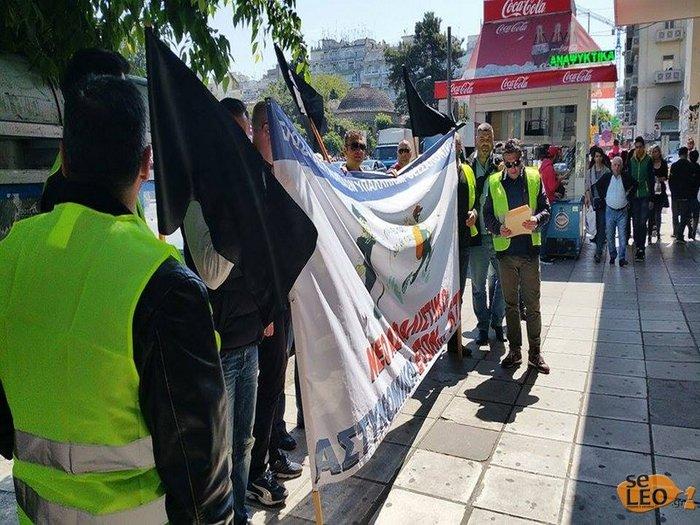 Διαμαρτυρία αστυνομικών έξω από τα γραφεία του ΣΥΡΙΖΑ στη Θεσσαλονίκη - εικόνα 2