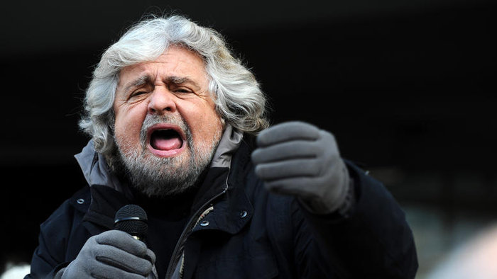 Ο επικεφαλής του κινήματος των Πέντε Αστέρων Μπέπε Γκρίλο