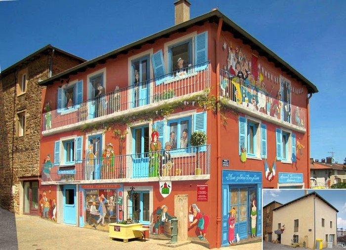 Γάλλος καλλιτέχνης φτιάχνει παραμυθένιες γειτονιές σε άχαρους τοίχους - εικόνα 2