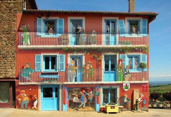 Γάλλος καλλιτέχνης φτιάχνει παραμυθένιες γειτονιές σε άχαρους τοίχους - εικόνα 3