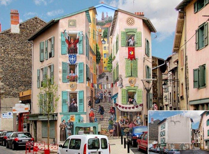 Γάλλος καλλιτέχνης φτιάχνει παραμυθένιες γειτονιές σε άχαρους τοίχους - εικόνα 4