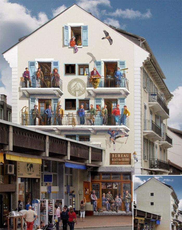 Γάλλος καλλιτέχνης φτιάχνει παραμυθένιες γειτονιές σε άχαρους τοίχους - εικόνα 5