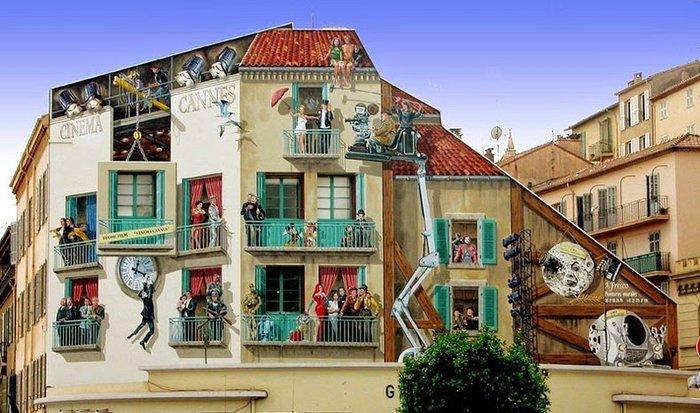 Γάλλος καλλιτέχνης φτιάχνει παραμυθένιες γειτονιές σε άχαρους τοίχους - εικόνα 7