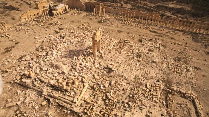 Αεροφωτογραφίες και βίντεο της Παλμύρας δείχνουν την απόλυτη καταστροφή - εικόνα 3