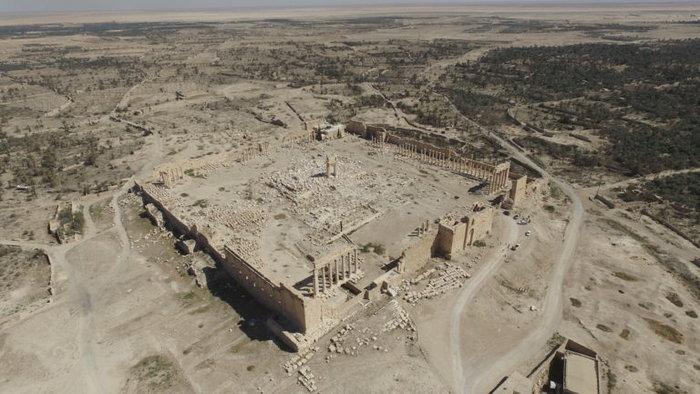 Αεροφωτογραφίες και βίντεο της Παλμύρας δείχνουν την απόλυτη καταστροφή - εικόνα 4