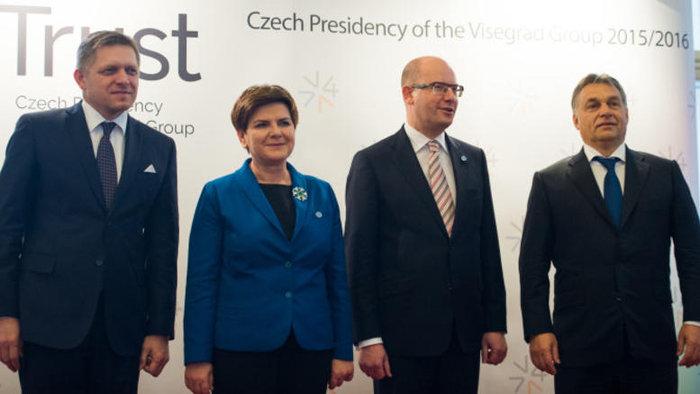 Οι ηγέτες των χωρών του Βίζενγκραντ