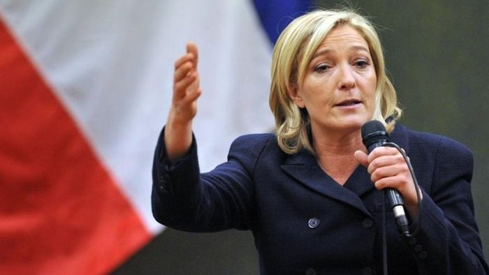 Η επικεφαλής του ακροδεξιού Εθνικού Μετώπου στη Γαλλία Μαρίν Λεπέν