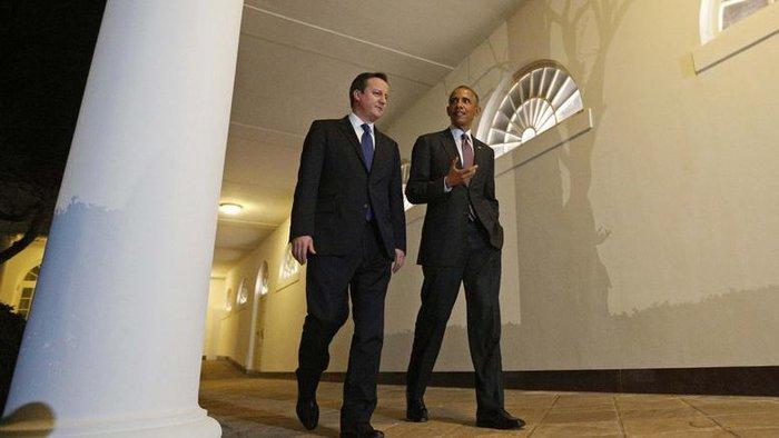 Ο Μπάρακ Ομπάμα και ο Ντέιβιντ Κάμερον