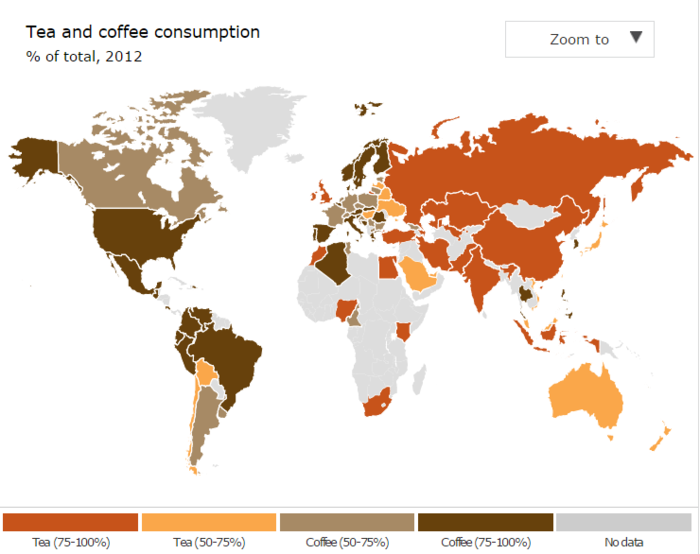 Καφές ή Τσάι; Τι προτιμούν να πίνουν σε κάθε χώρα