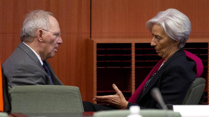 Ο γερμανός υπουργός Οικονομικών με την γενική διευθύντρια του ΔΝΤ