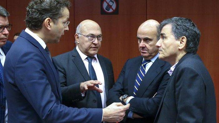 O Ευκλείδης Τσακαλώτος σε συνερδίαση των υπουργών Οικονομικών της Ευρωζώνης