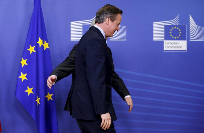 Ο βρετανός πρωθυπουργός στο κτίριο της Κομισιόν στις Βρυξέλλες