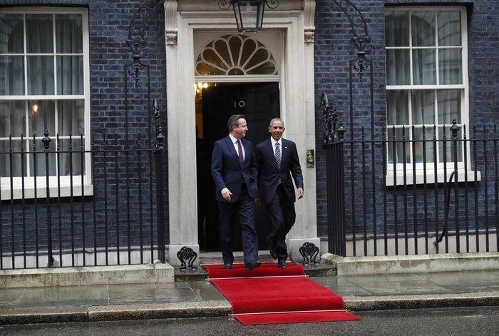 Ο Ντέιβιντ Κάμερον και ο Μπάρακ Ομπάμα στο Λονδίνο
