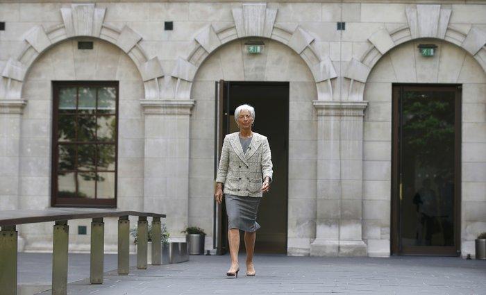 Η γενική διευθύντρια του ΔΝΤ Κριστίν Λαγκάρντ στο Λονδίνο