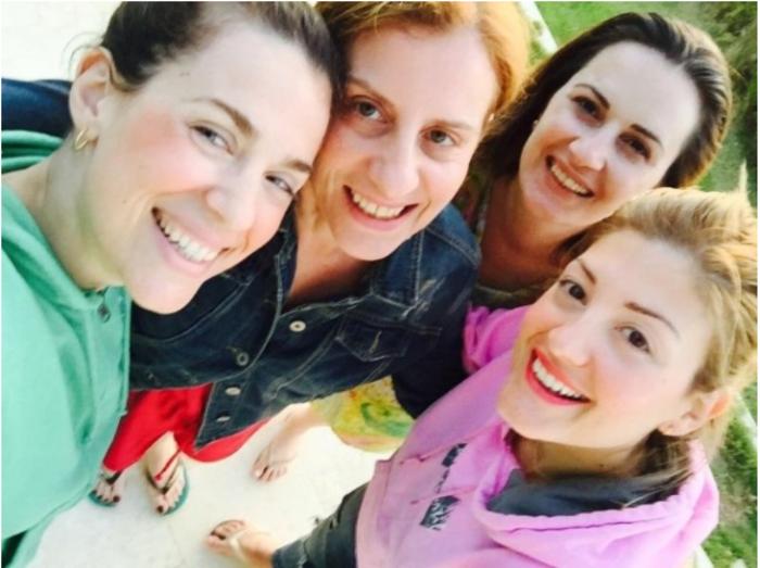Η Ράνια Τζίμα με τις τρεις φίλες της που θα είναι μάρτυρες στο γάμο