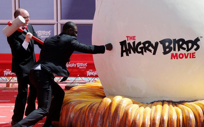 Στιγμιότυπο από την πρεμιέρα της ταινίας «The Angry Birds Movie