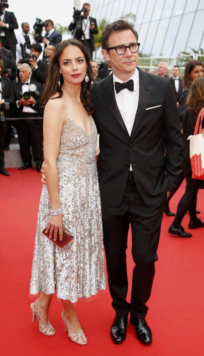Η ηθοποιός Berenice Bejo και ο σκηνοθέτης Michel Hazanavicius στην πρεμιέρα του «The BFG» του Στήβεν Σπίλμπεργκ.