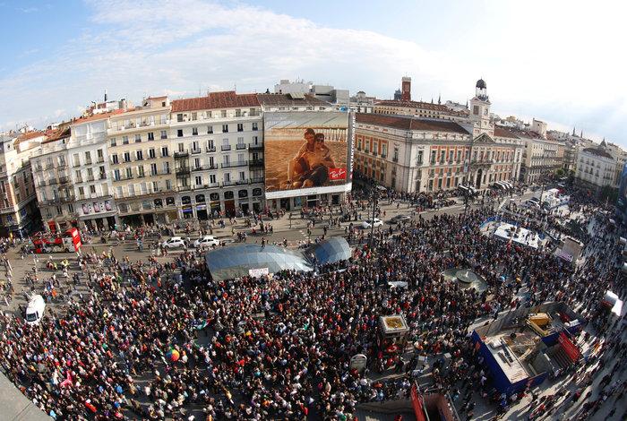 Ισπανία: Οι «Αγανακτισμένοι» επέστρεψαν στην Puerta del Sol, 5 χρόνια μετά