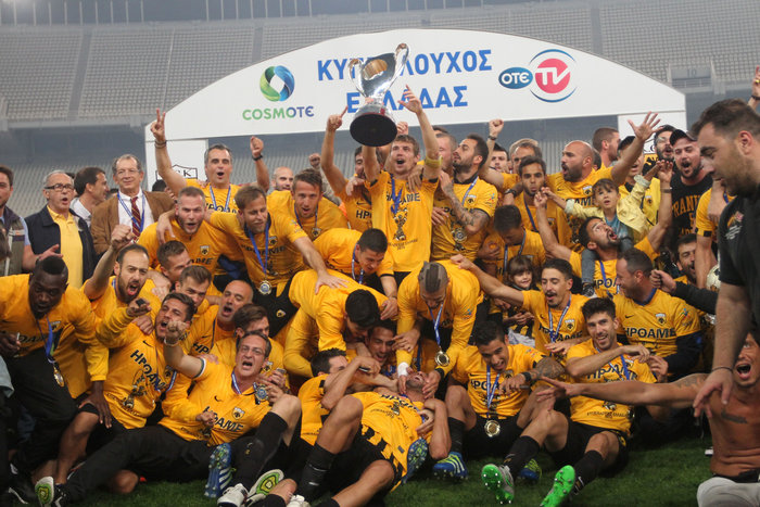 Κυπελλούχος Ελλάδας η AEK, νίκησε 2-1 τον Ολυμπιακό