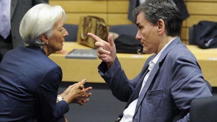 O έλληνας υπουργός Οικονομικών με την γενική διευθύντρια του ΔΝΤ