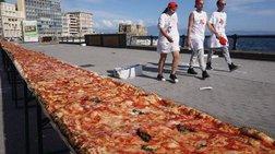 Στη Νάπολη έφτιαξαν τη μεγαλύτερη πίτσα του κόσμου