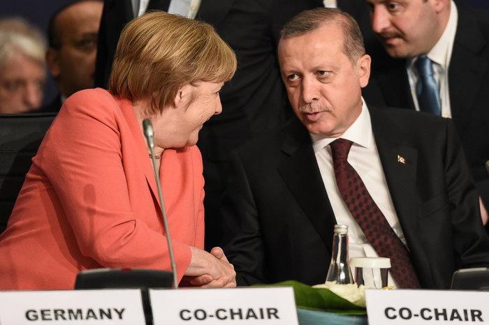 Η Άνγκελα Μέρκελ και ο τούρκος πρόεδρος στη Σύνοδο του ΟΗΕ