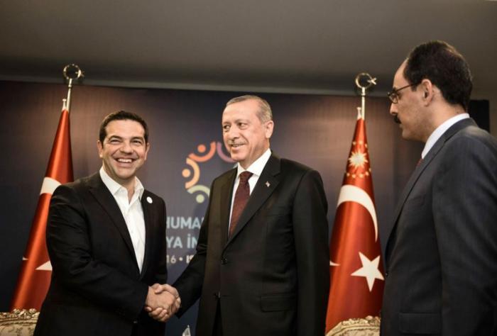 Ερντογάν σε Τσίπρα: Που είναι η γραβάτα που σου χάρισα;