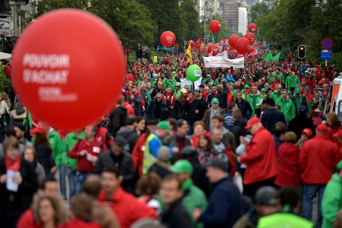 Ξύλο στη διαδήλωση κατά της λιτότητας στις Βρυξέλλες