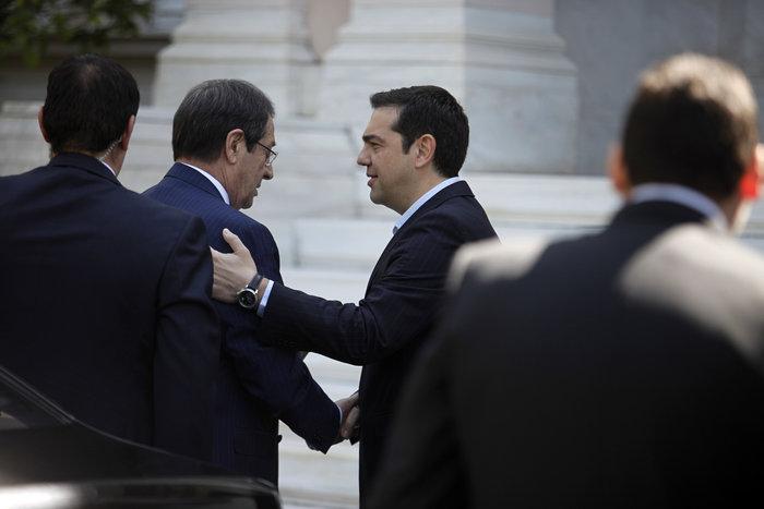 Με τον Κύπριο πρόεδρο Ν. Αναστασιάδη συναντήθηκε ο Αλέξης Τσίπρας - εικόνα 2