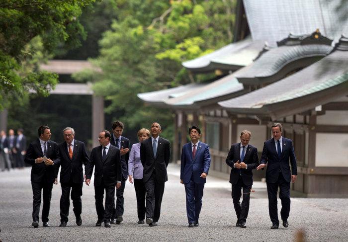 Οι ηγέτες της G7 φυτεύουν δέντρα στην Ιαπωνία