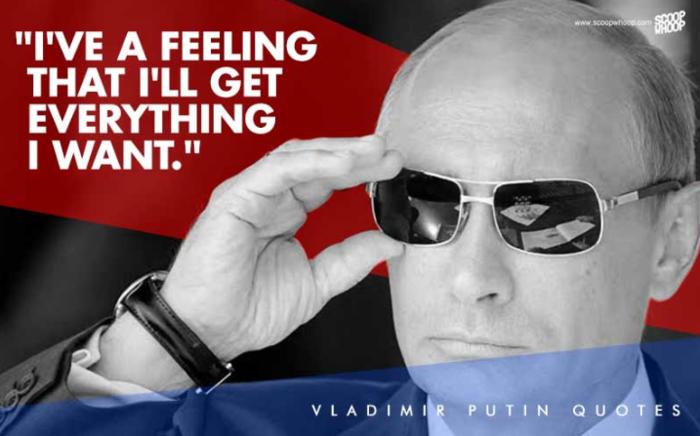 Οι 13 πιο «σκληροτράχηλες» ατάκες του Πούτιν