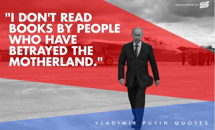5. «Δεν διαβάζω βιβλία από ανθρώπους που έχουν προδώσει την πατρίδα»