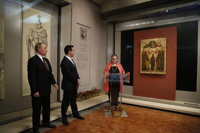 Μέσα στη νύχτα η επίσκεψη Πούτιν στο Βυζαντινό Μουσείο - εικόνα 7