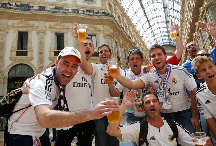 Στρατός και κέφι στο Μιλάνο για τον μεγάλο τελικό του Champions League