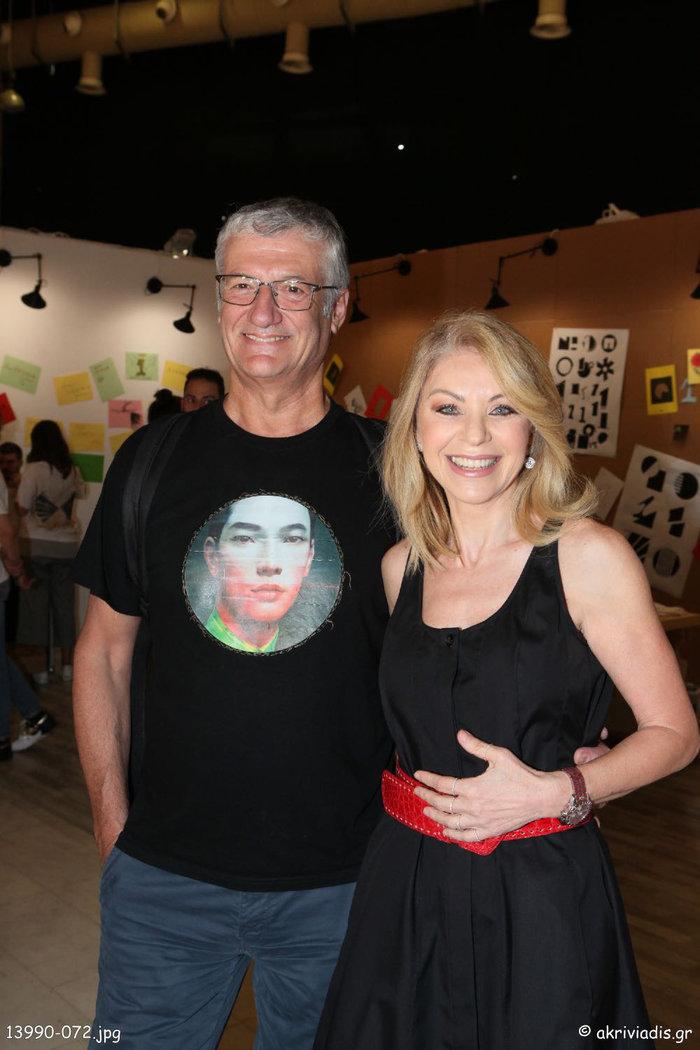 Η ΄Ελλη Στάη με τον καλλιτεχνικό διευθυντή του ελληνικού Φεστιβάλ, Βαγγέλη Θεοδωρόπουλο