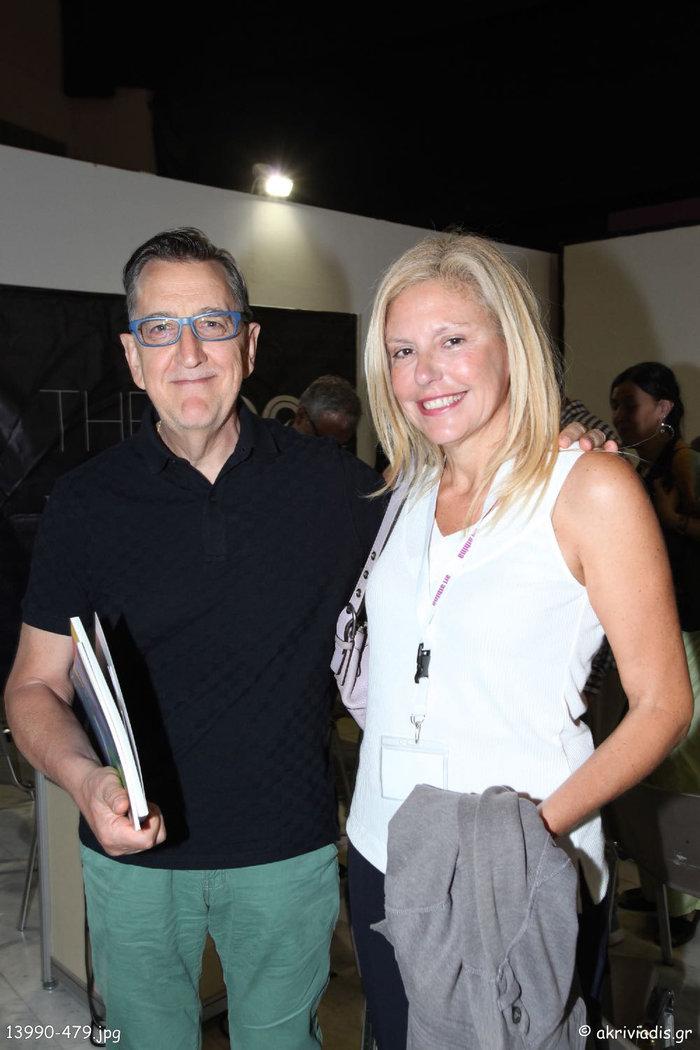 Οι εικαστικοί καλλιτέχνες Χάρης Λάμπερτ και Μαρία Φιλοπούλου στην αίθουσα του Debate