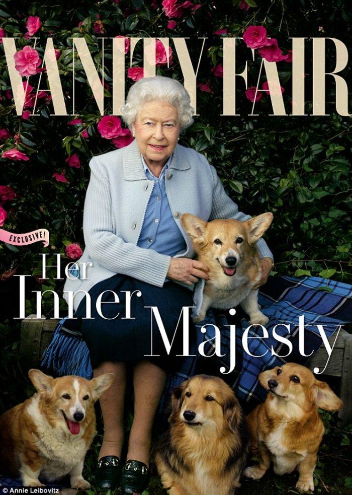 Η Βασίλισσα έγινε cover girl του Vanity Fair στα 90 της!