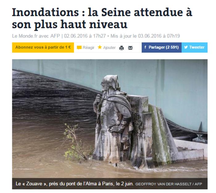 Κλείνει το Λούβρο στο πλημμυρισμένο Παρίσι