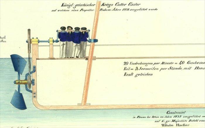 Σχέδιο πλοίου Kάστωρ, 1837
