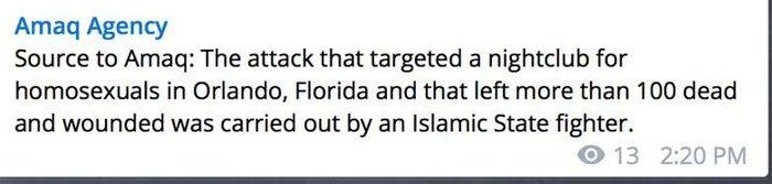AMAQ NEWS: Ανάληψη ευθύνης από το ISIS