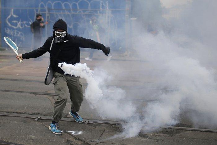 Αυτός είναι ο πιο ευφάνταστος διαδηλωτής των κινητοποιήσεων στη Γαλλία