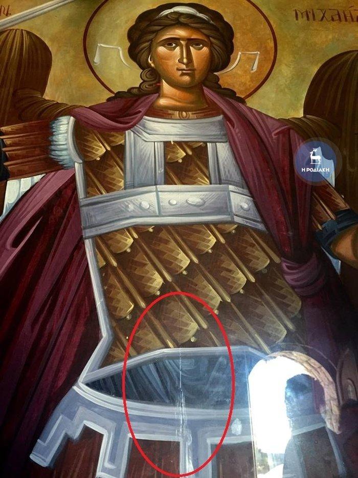 Δάκρυσε η εικόνα του Αρχάγγελου Μιχαήλ στη Ρόδο (φωτό)