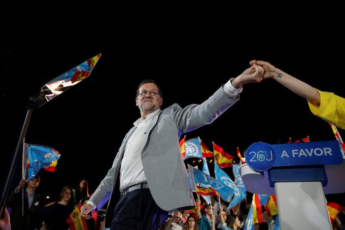 O ηγέτης του Λαϊκού Κόμματος και πρωθυπουργός Μαριάνο Ραχόι