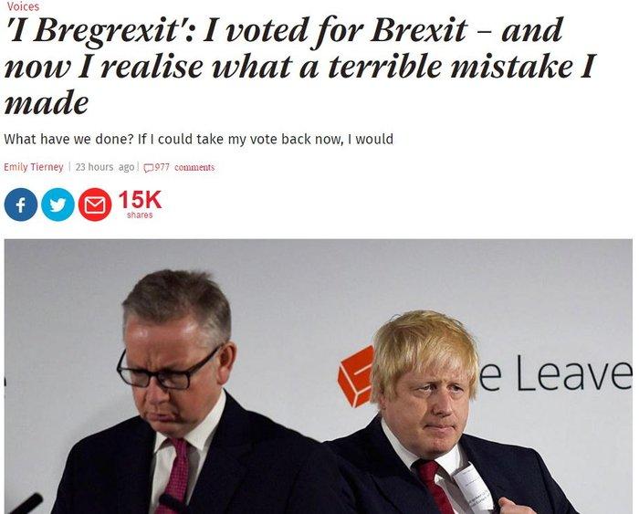 Συγκλονιστικές επιστολές από «μετανιωμένους» του Brexit