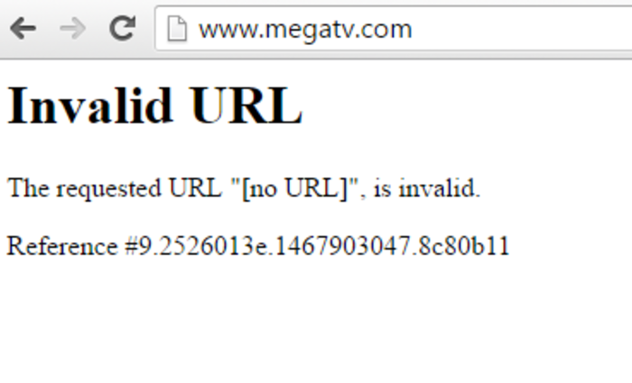 Το πρώτο μαύρο στο Mega, έπεσε το σάιτ του καναλιού-Δείτε γιατί