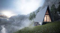 Ένα εκπληκτικό τριγωνικό σπίτι στη μέση του πουθενά